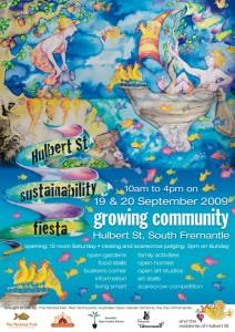 Hulbert Street Sustainability Fiesta 2009 Poster